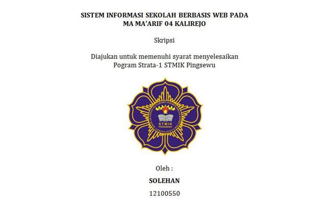 Skripsi Lengkap Sistem Informasi Pdf